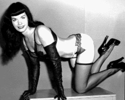 Bettie Page nude 2 3